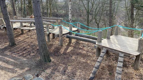 Tarzanbanen i Madsby Legepark